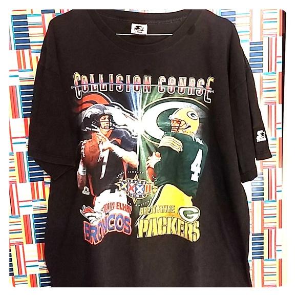 55db5b08 Starter Shirts   Nfl Superbowl 32 Tee Shirt Broncos Green Bay L ...